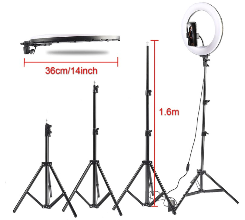 LED Ring Camera Light with Tripod
