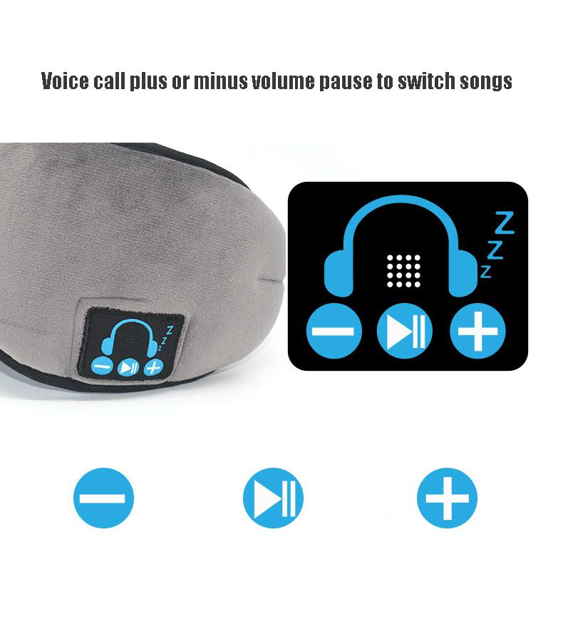 Wireless Bluetooth Sleeping Mask with Built-in Speakers